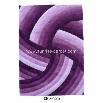 Microfiber Soft Yarn 3D Design Rug
