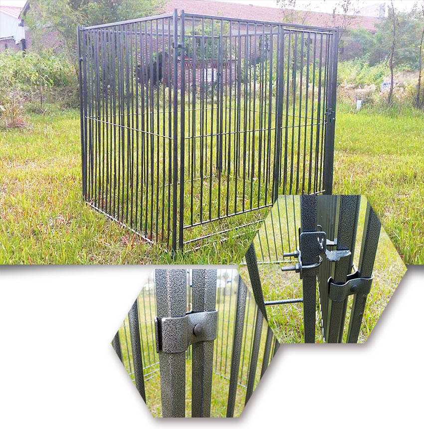 metal large dog kennel