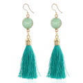 Big red drop tassel earrings buy online