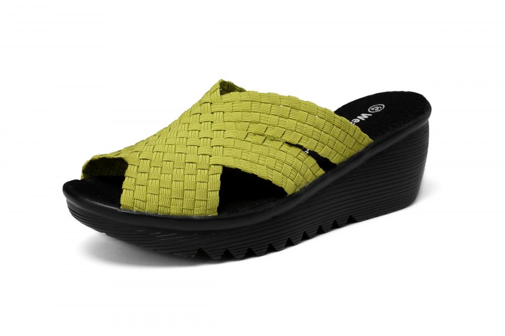 Natural PU Outsole Woven Slippers