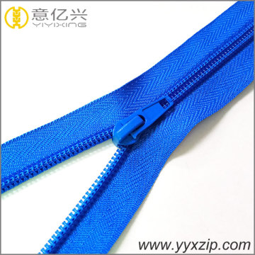 Navy blue plating teeth nylon zipper chain