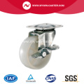 32mm White PP Industrial Casters with side brake