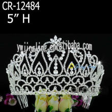 Rhinestone Crowns Cheap Tiaras CR-12484-1
