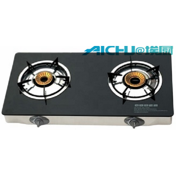 2 Burners Big Stainless Steel Gas Stove