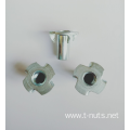Zinc plated Cold Heading Tee Nuts