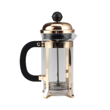 Champagne Gold  Frame of Glass French Press