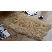 Long Hair Mongolian Lamb Skin Fur Blanket
