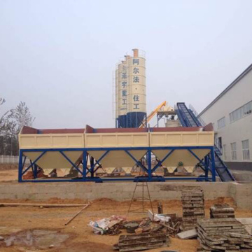 Belt type 90m3h concrete batching plant Indonesia