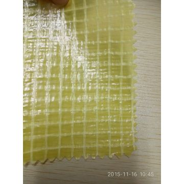Green White color PE grid tarpaulin