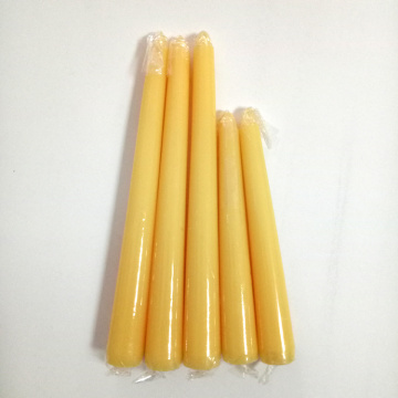 Hand dipped beeswax tapered candle