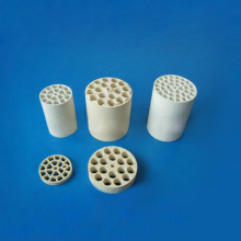 Cordierite honeycomb ceramic monolith catalytic converter substrate
