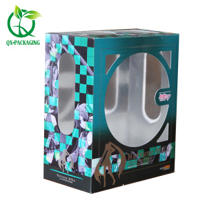 Toy storage box doll packaging with PVC window