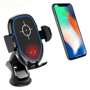 Fast Qi Universal Wireless Car Charger muntatzea