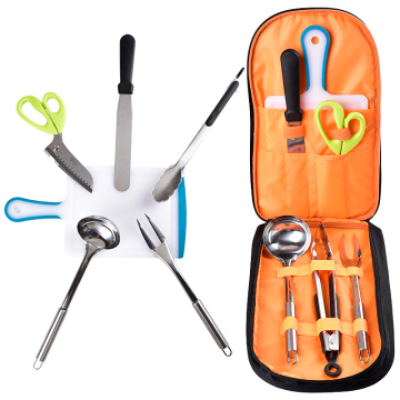 6pcs tools with a bag for outdoor bbq