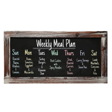 Rustic Style Wood Framed Erasable Blackboard Chalk Message Memo Board   Restaurant Store Sign