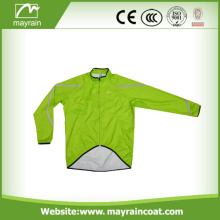 Green Sport Polyester Jacket for Man