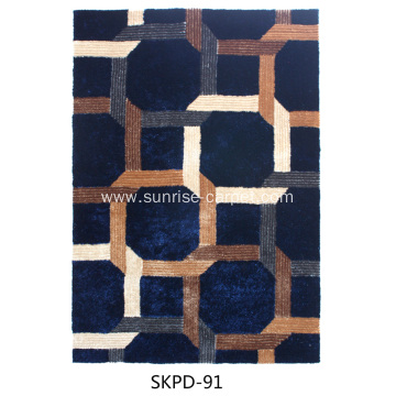 Silk shaggy 4D with blading design carpet