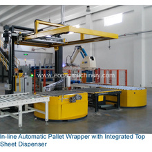 Automatic Stretch Wrapper Integrated Top Sheet Dispenser
