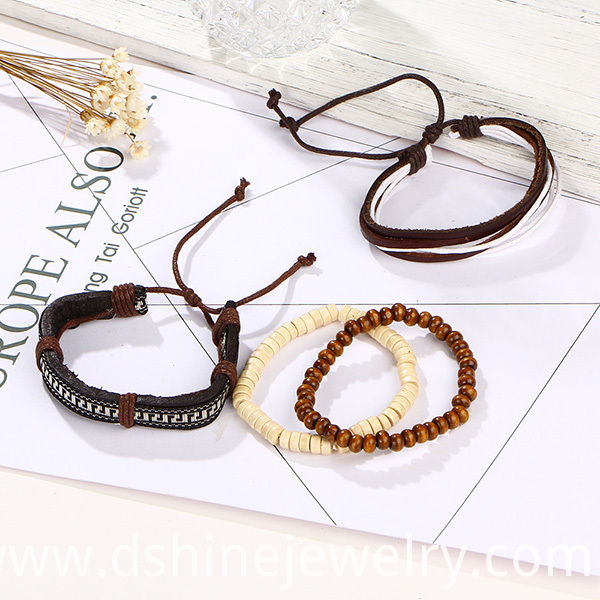 Adjustable Customized Leather Bracelets