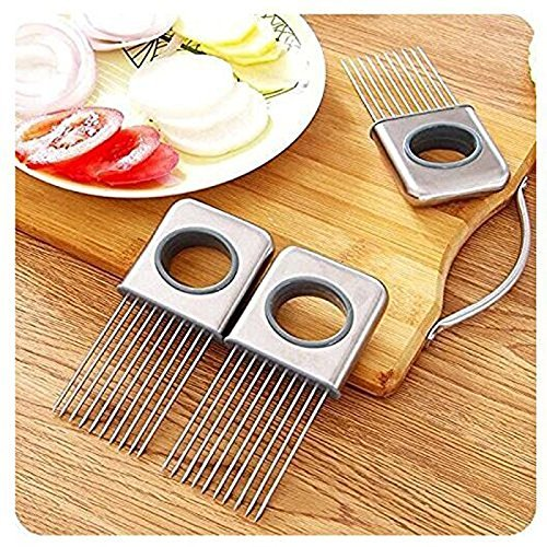 Stainless Steel Kitchen Onilon Slicer Holder For Vegetable