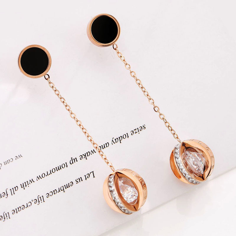 Long Drop Chain Earrings