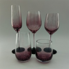 Purple color solid color inside drinking glass set