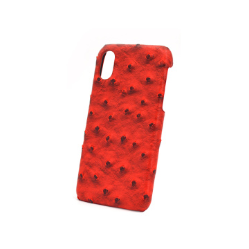 Unique Ostrich Pattern Leather Phone Case for Iphone