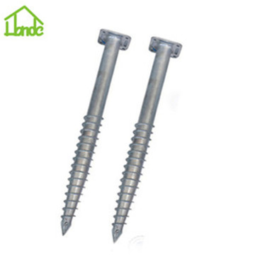 Galvanized ground anchor with flange