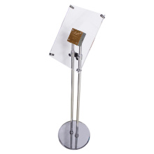 metal acrylic sign floor POP display stand