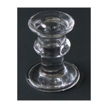 Glass Vintage Candlestick Bamboo Joint