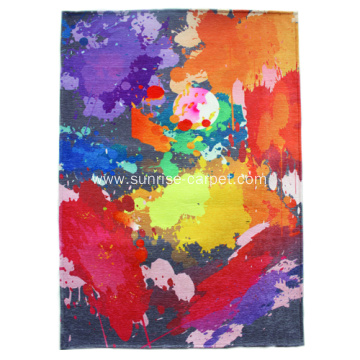 Polyester Printing Rug with Design