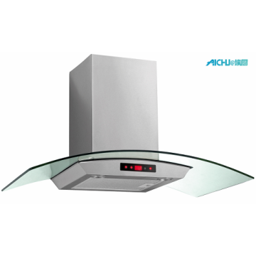 90cm Curved Glass Chimney Hood