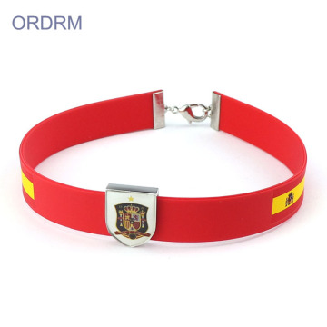 Custom World Cup Gifts Silicone Choker Necklace