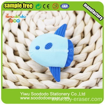 3D fish shaped eraser supplier