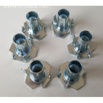 M8x17 Half thread rivet Zinc plated Tee nuts