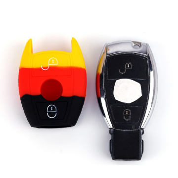 Car Key Case Silicone Rubber Bakeng sa Benz