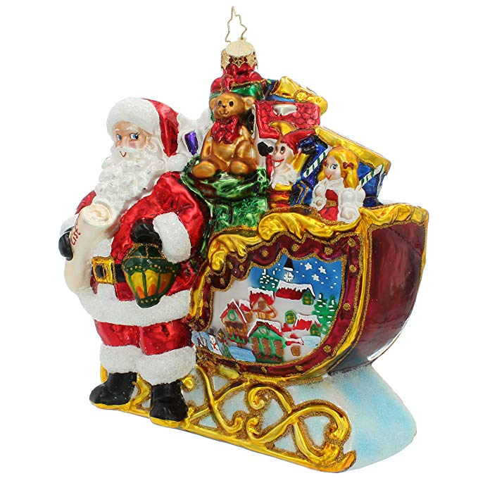 Santa Claus Christmas Glass Decor