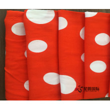 Factory Outlets for Printed 100% Rayon Fabric White Wave Point Rayon Printed Fabric export to Israel Manufacturers