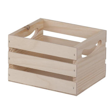 Walnut Hollow W Handles Mini Wooden Crate