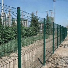v bending PVC painted metal safety wire mesh fence
