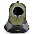 Olive Small PVC and Mesh Pet Backpack