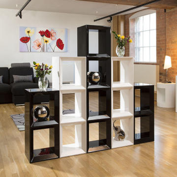 Europe style for Wooden Bookcase White finish open back vertical type wood bookcases export to Indonesia Supplier