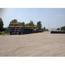 3axles lowbed trailer for equipment transport