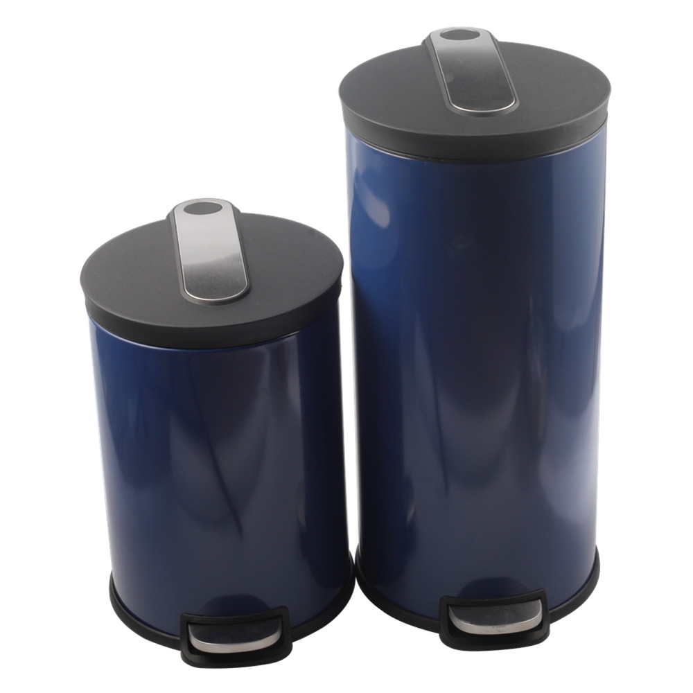 Painting Blue Pedal Bin