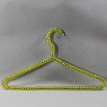 Yellow Crystal Bead Clothes Hanger