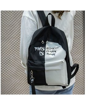 Color matching school bag fashionable color bump backpack