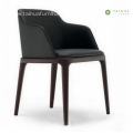 Solid Wood Dining Chair With Leather Cushion