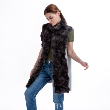 Fashionable fur vest coat