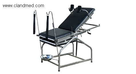 Spray gynecology bed