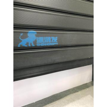 Panel simple de aluminio rápida puerta enrollable rápida